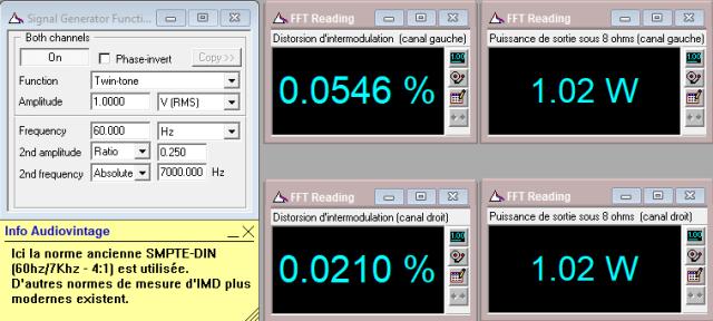 Scott A 416 : IMD-à-2x1w-sous-8-ohms-entrée-aux