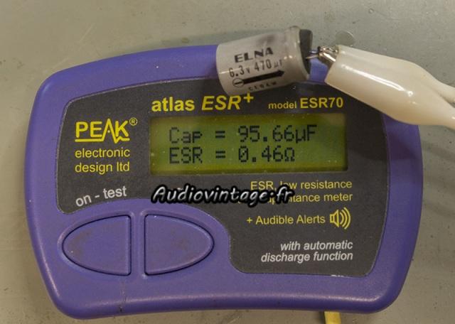 Sony TA-1010 : condensateur très usé...