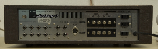Sony TA-1010 : connectique.