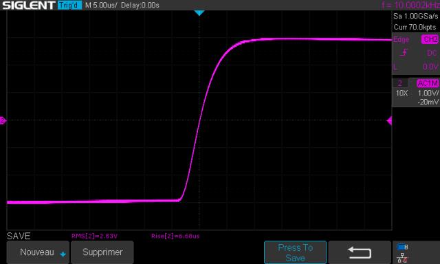 Sony TA-1010 : temps-de-montee-a-10khz