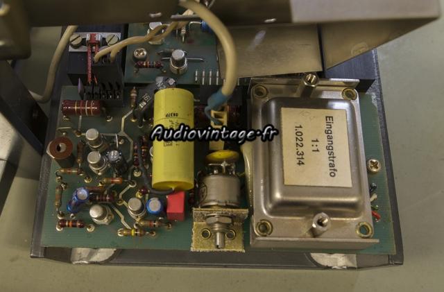 Studer A68 : circuit d'entrée symétrique.