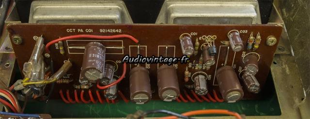 TOSHIBA SB-404 : circuit d'amplification révisé.