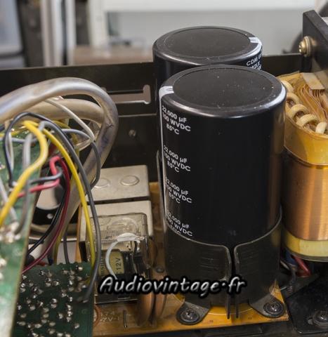 Yamaha CA-2010 : nouvelles capas de filtrage en place.