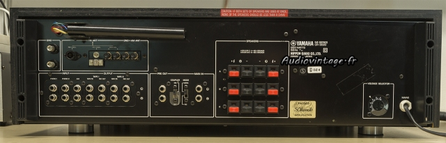 Yamaha CR-3020 : connectique.